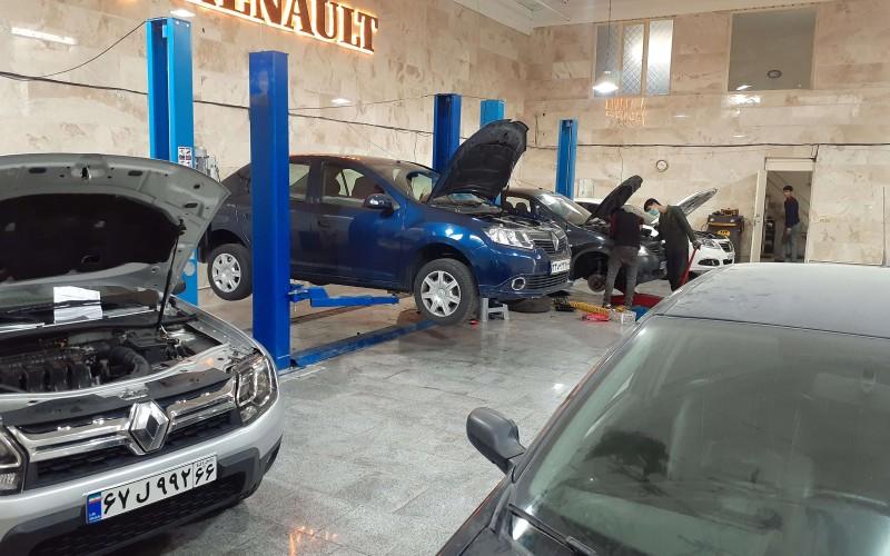 سرویس های دوره ای رنو سیمبل با قطعات اورجینال در تهران